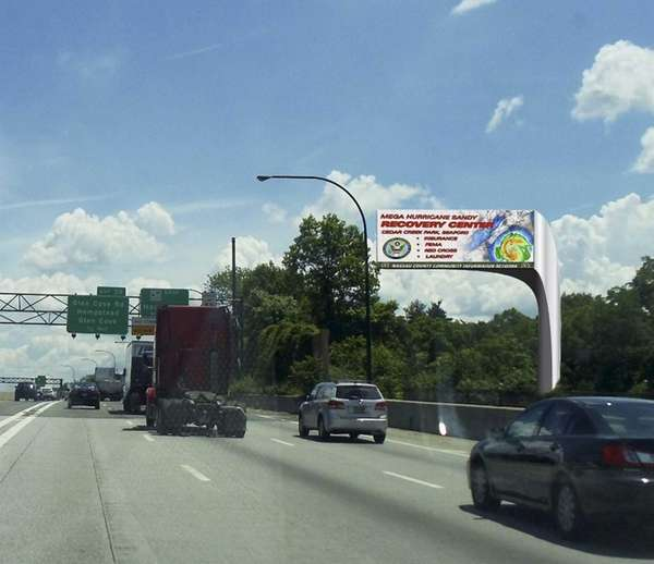 Rendering of the proposed billboards for Roslyn Road