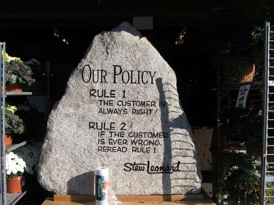 The company's founding principles can be found etched