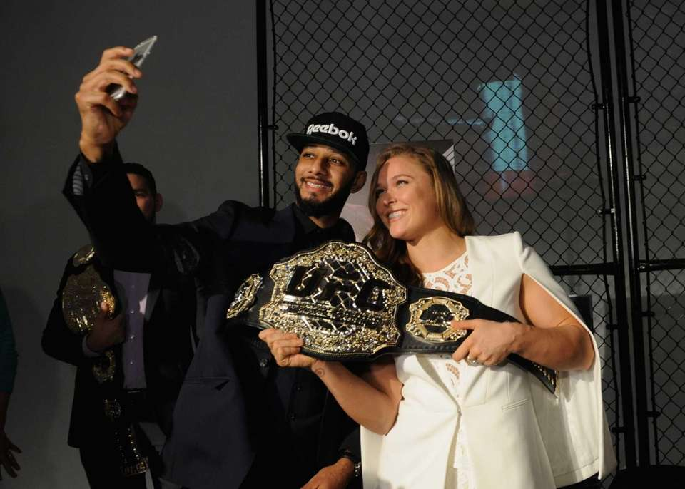 Ronda Rousey and Swizz Beatz appear at Reebok