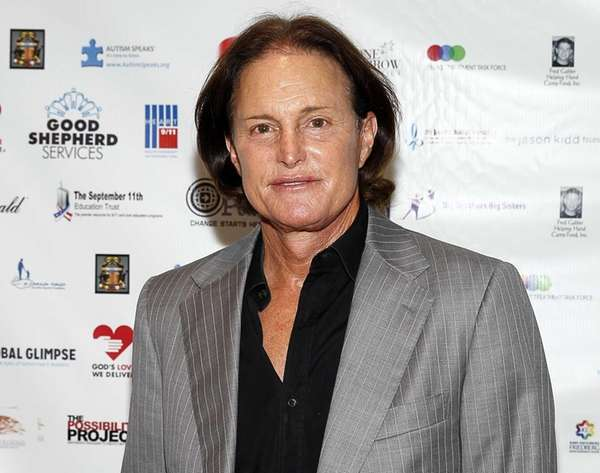 Olympic champion Bruce Jenner arrives at the annual