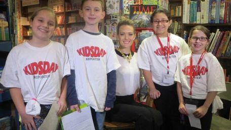 Kidsday reporters Emaline O'Connor , Brandon Murphy, Scarlet