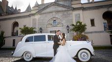 Mo Cassara and Elisa DiStefano on their wedding