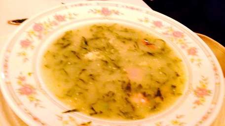 Caldo gallego, or kale and potato soup with