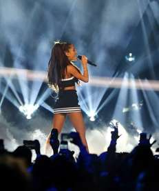 Ariana Grande performs during the halftime show of
