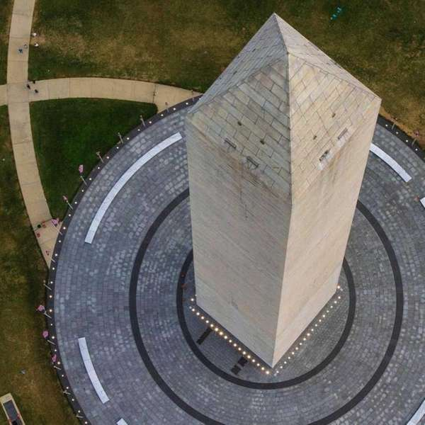 The Washington Monument in D.C. is now shorter
