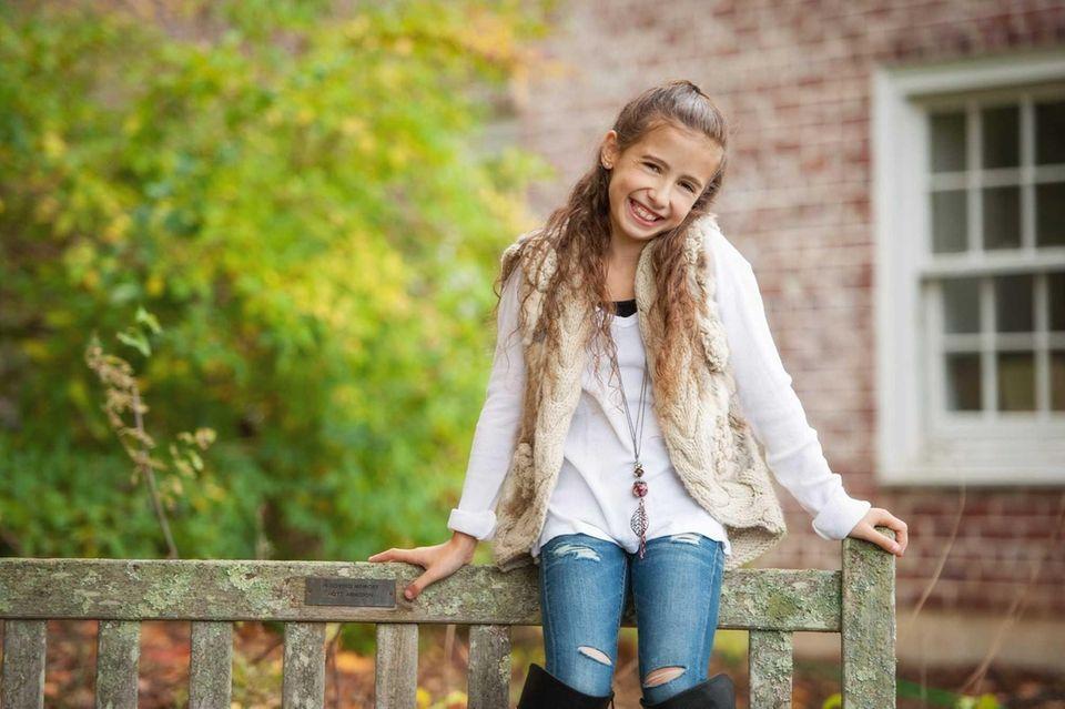 Jillian Miller, a sixth-grader at Harry B. Thompson