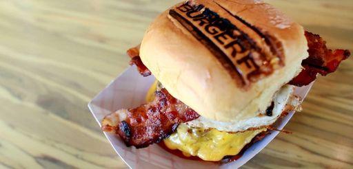 BurgerFi's B.A.D. (aka, breakfast all day) burger comes