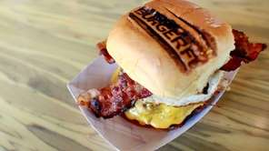 BurgerFi's B.A.D. (aka, breakfast all day) burger comes