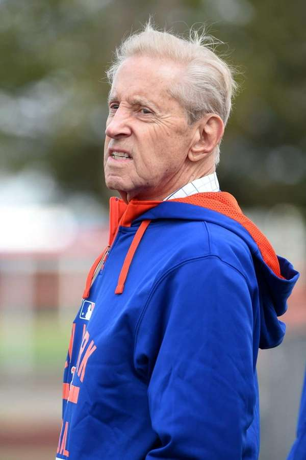 Mets owner Fred Wilpon looks on during a