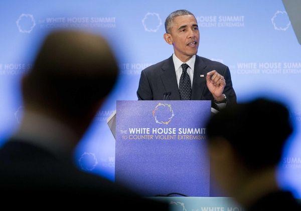 President Barack Obama speaks at the Countering Violent