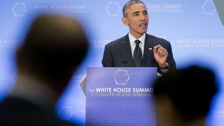 President Barack Obama speaks at the Countering Violent