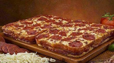 Bacon! Bacon! Little Caesars' bacon-wrapped pizza.