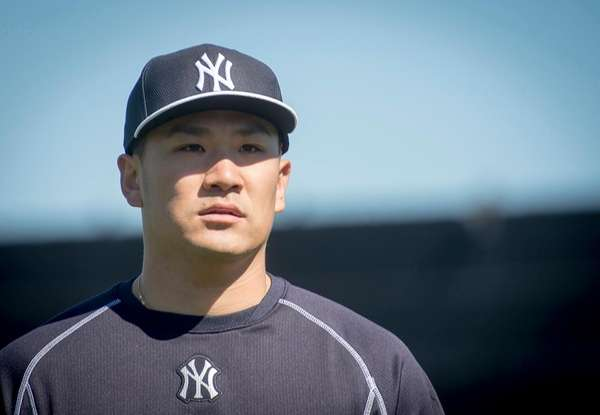 Yankees pitcher Masahiro Tanaka at George Steinbrenner Field