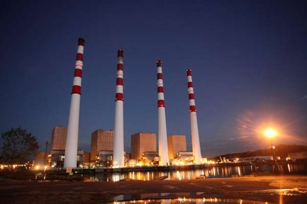 The National Grid power plant in Northport on
