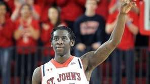 St John's Sir'Dominic Pointer reacts moments before the