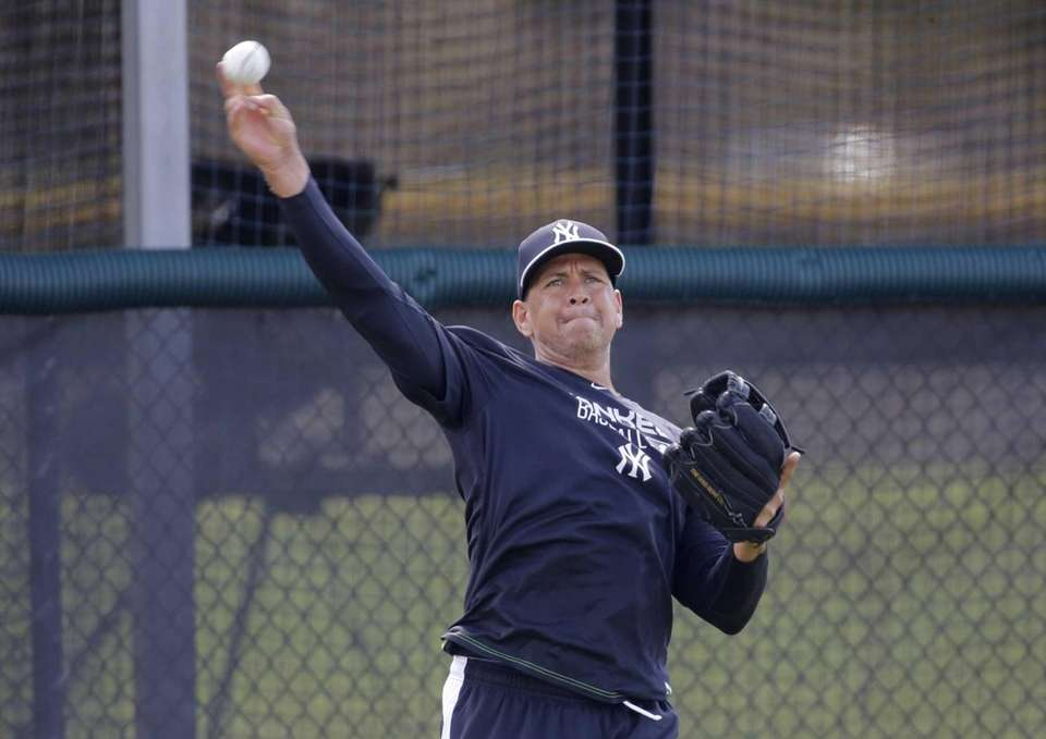 Alex Rodriguez works out at the Yankees minor
