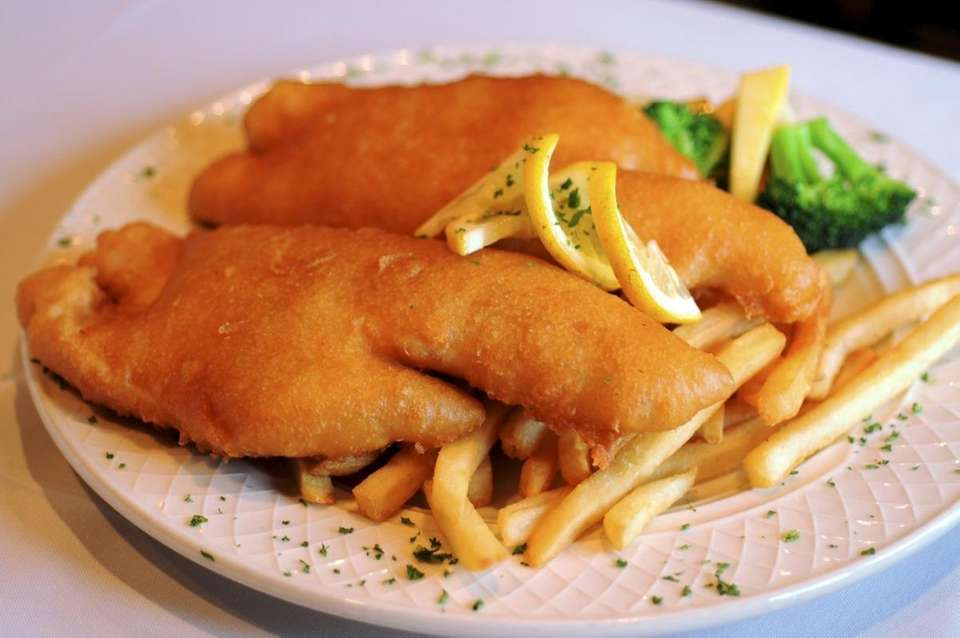 Fish and chips is served at Irish Coffee