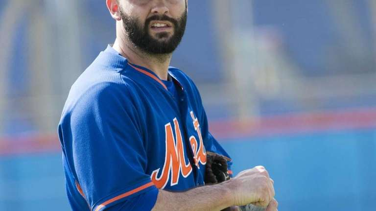 New York Mets pitcher Dillon Gee is seen