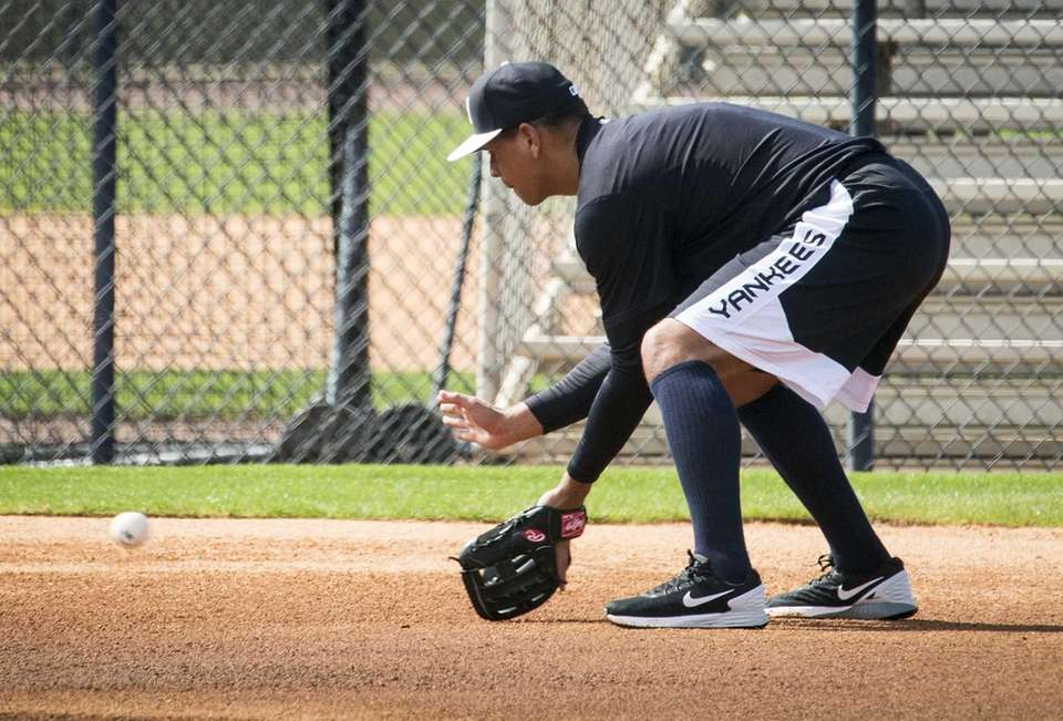 The Yankees' Alex Rodriguez, who came in to