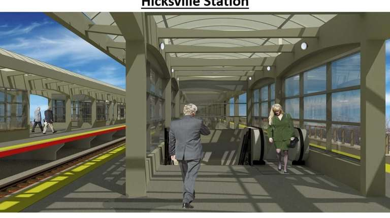An artist rendering of the new Hicksville LIRR