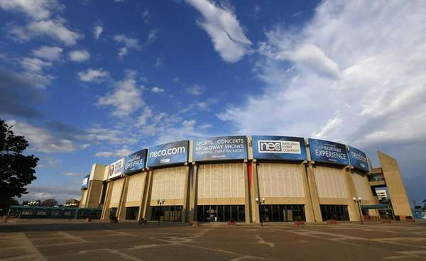A general view of Nassau Coliseum before a