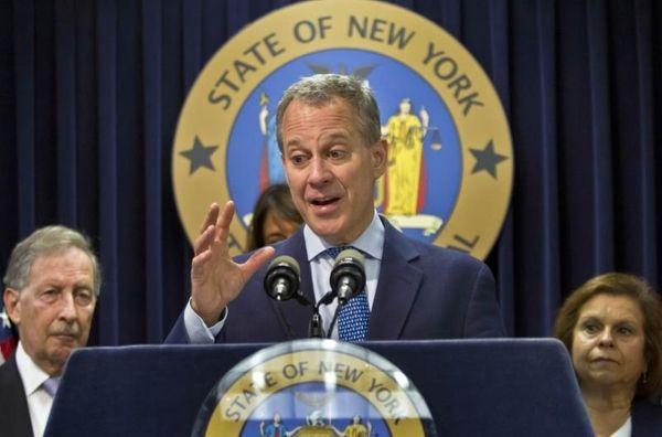 New York Attorney General Eric Schneiderman on Aug.