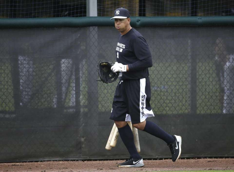 The Yankees' Alex Rodriguez runs during a spring