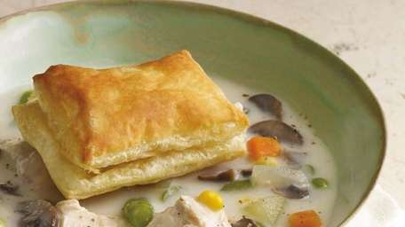 The chicken pot pie soup recipe can be