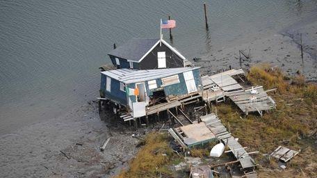 An aerial photo taken on Nov. 14, 2012,
