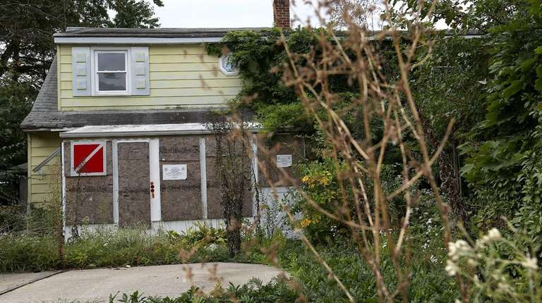 An abandoned house in Levittown shown on Thursday,