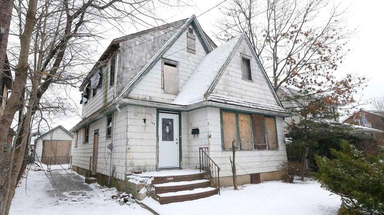 An abandoned house in Valley Stream shown Sunday,