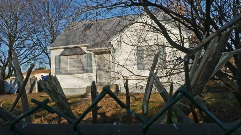 An abandoned house in Brentwood on Dec. 18,