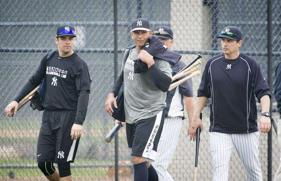 New York Yankees third baseman Alex Rodriguez, right,