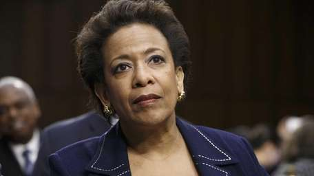 Attorney general nominee Loretta Lynch appears on Capitol