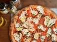 Brick-oven Margherita pizzette is crisp and puffy at