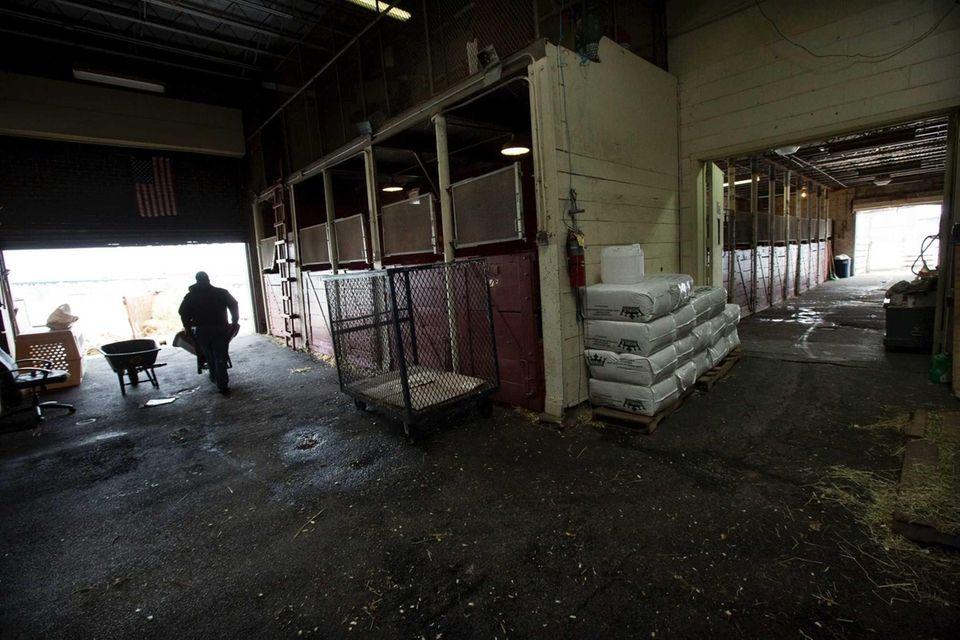 The barn at the Vetport Animal Hospital at