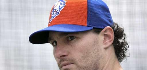 Daniel Murphy while working out in a batting