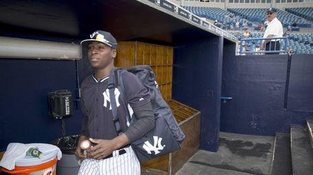 New York Yankees shortstop Didi Gregorius enters George