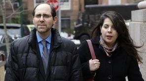 Jesse Friedman and his wife, Elisabeth Walsh, arriving