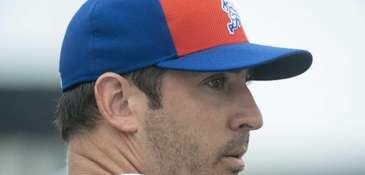 Mets pitcher Matt Harvey after facing live batters