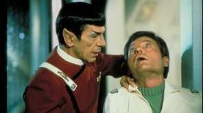 "Leonard Nimoy and DeForest Kelly in 1982's ""Star"
