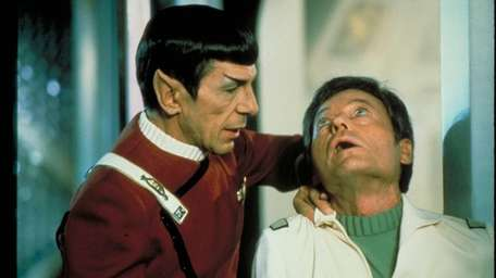 Leonard Nimoy and DeForest Kelly in 1982's