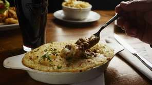 Shepherd's pie, made with lamb, is served at