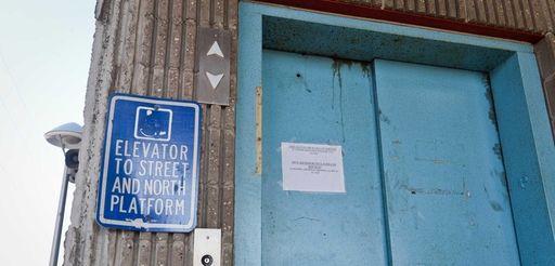 The handicap elevators at the Huntington Long Island