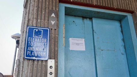The elevators at the Huntington Long Island Rail