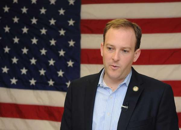 Lee Zeldin at his campaign headquarters in Centereach