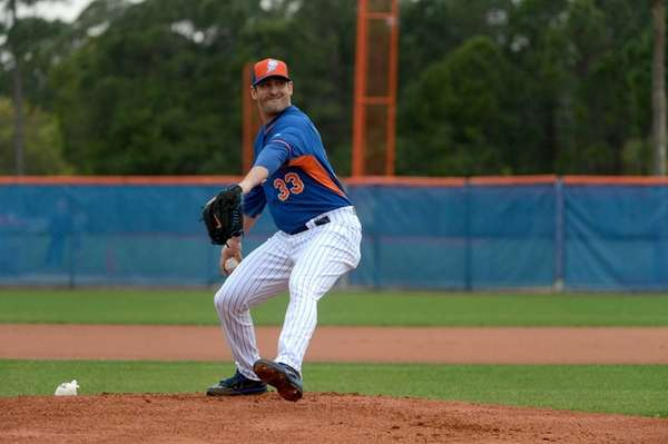 New York Mets pitcher Matt Harvey faces hitters