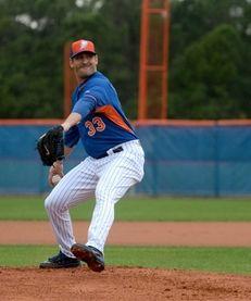 New York Mets pitcher Matt Harvey faces hitters