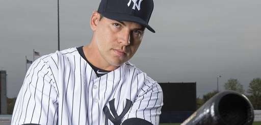 New York Yankees outfielder Jacoby Ellsbury poses at