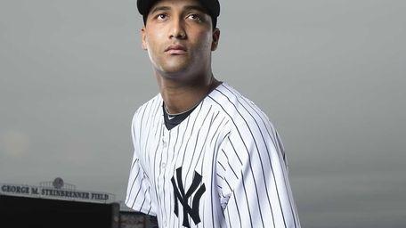 New York Yankees' Wilking Rodriguez poses at George